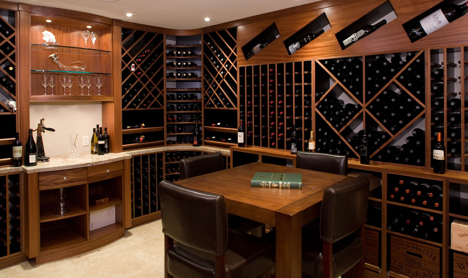 Custom Wineroom Cabinets