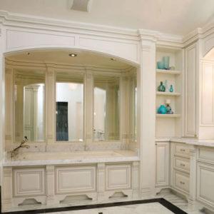Custom bathroom cabinetry