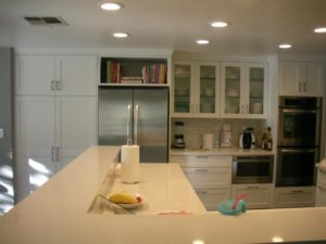 Shaker style painted cabinets
