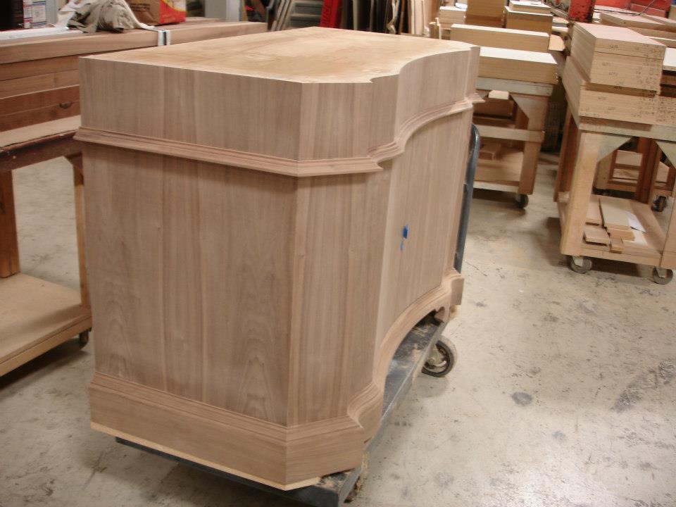 Walnut Vanity Cabinet