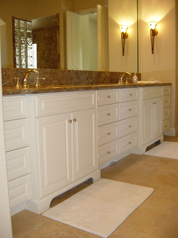 Traditional White Vanity