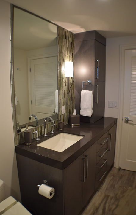 Guest Bathroom with Rift White Oak Cabinets
