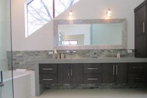Master Bath Cabinets in Vertical Grain Walnut