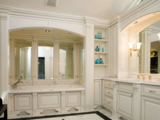 Painted and Glazed Vanity Cabinets