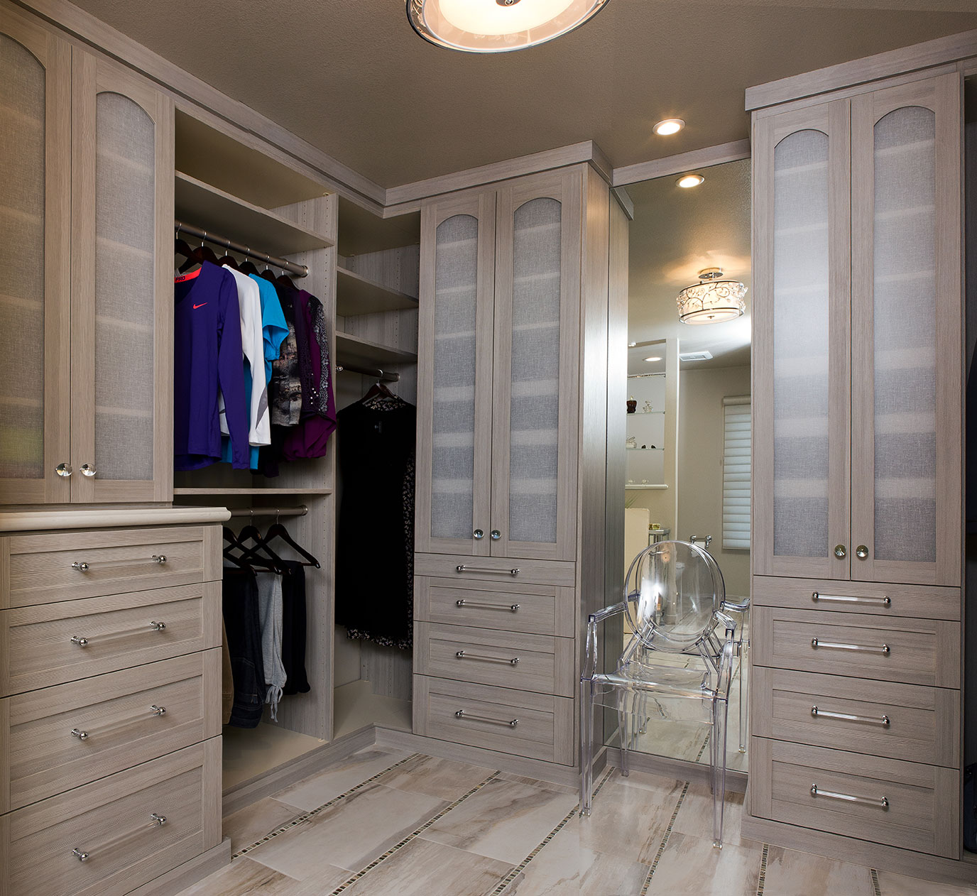 Master bedroom closet storage