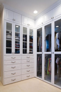 Closet shelving and drawers