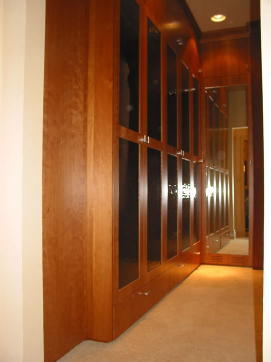 Glass closet doors/tie rack