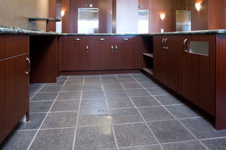 Sapele storage, work area cabinets