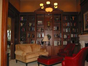 Family room bookshelves