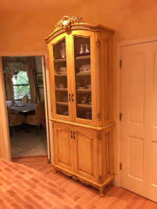 China Cabinet with Mesh Door Inserts