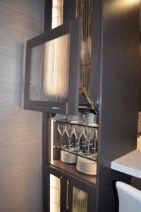 Illuminated Alder Tuscan Kitchen Cabinets