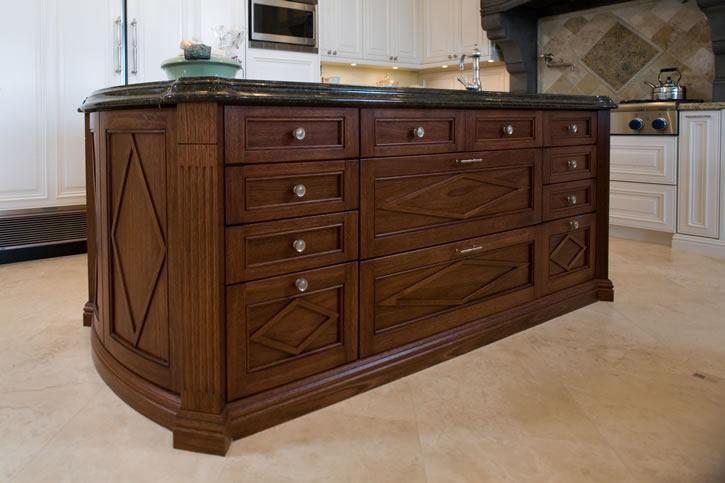 Mahogany kitchen island cabinet