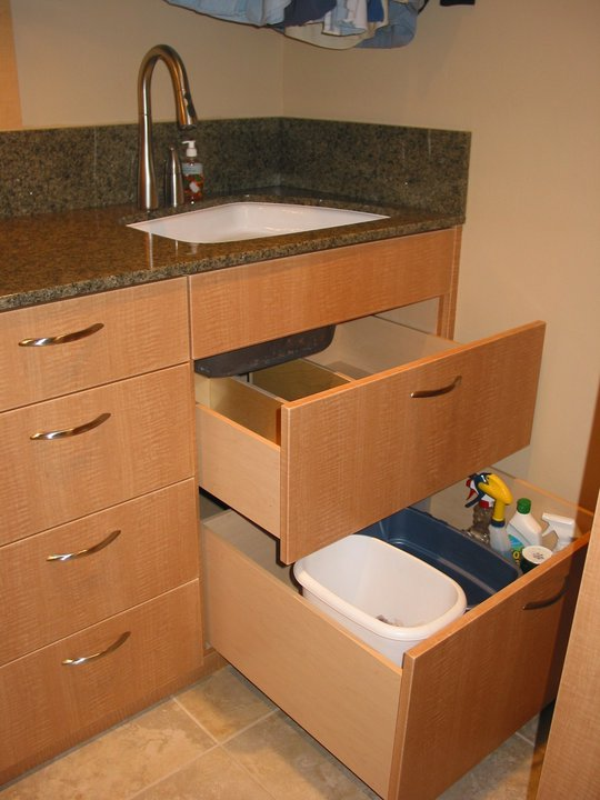 Did You Ever Think You Could Have Drawers Under Your Sink Cabinet? Well You  Can If You Notch Around The Plumbing; It Still Leaves A Lot Of Storage That  You ...