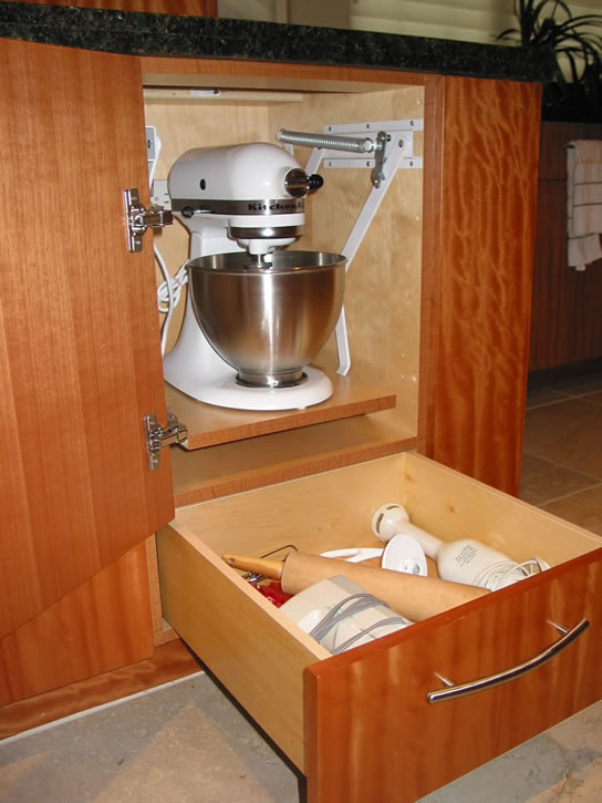 Cabinet Mixer Lift Feist Cabinets And Woodworks Inc