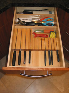 Knife block and drawer divider