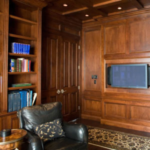 Custom familyroom cabinetry