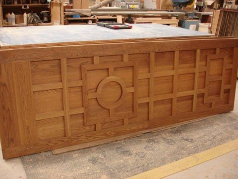 Custom oak entry door