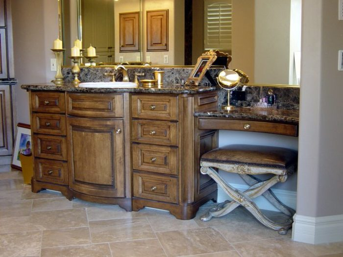 Old-World Alder Vanity