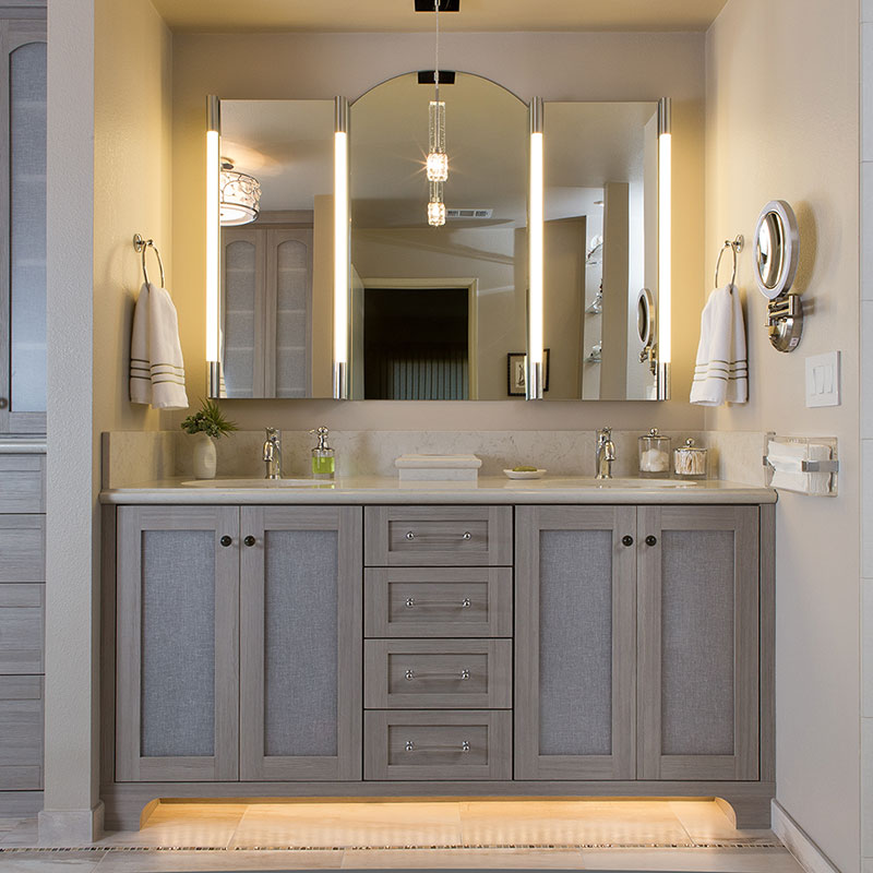 Master bathroom vanity cabinetry