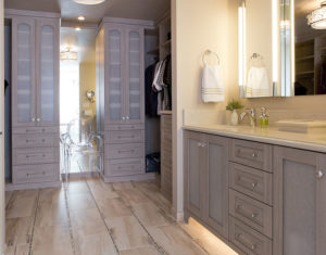 Master bathroom vanity cabinetry
