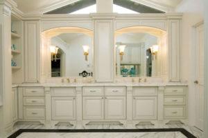 Painted and Glazed Bathroom Vanity