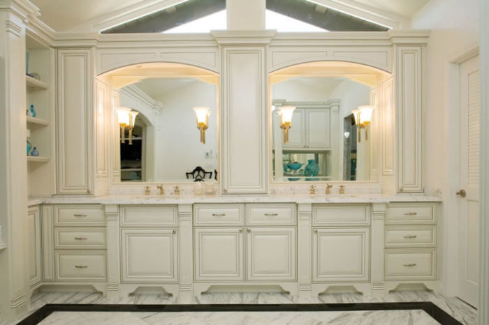 Painted and Glazed Bathroom Vanity