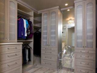 Master bedroom closet storage