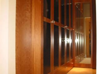 Glass closet doors/tie rack