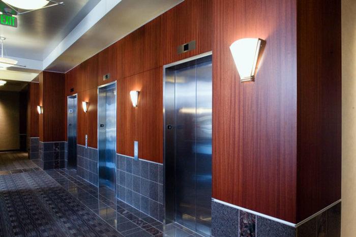 Ribbon sapele wall panels