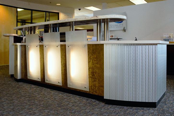 Sacramento Air Quality backlit angled glass panels