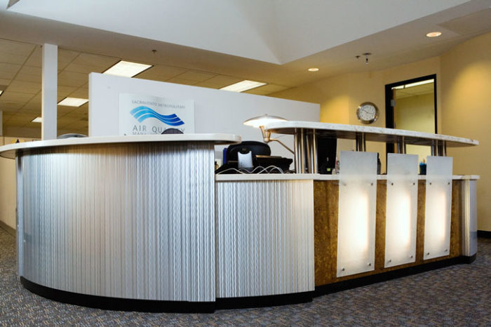 Sacramento Air Quality reception counter