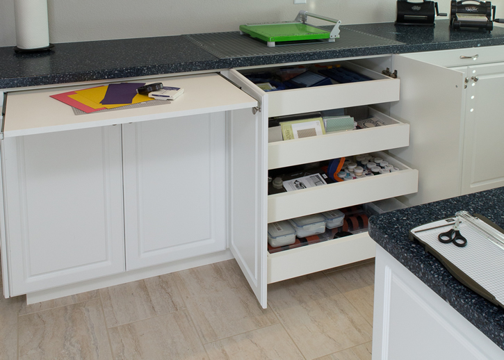 Classy Craft Room Cabinets