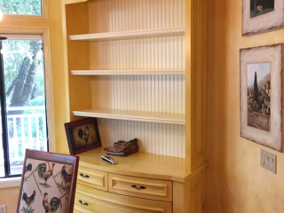 Painted and Glazed Hutch Cabinet