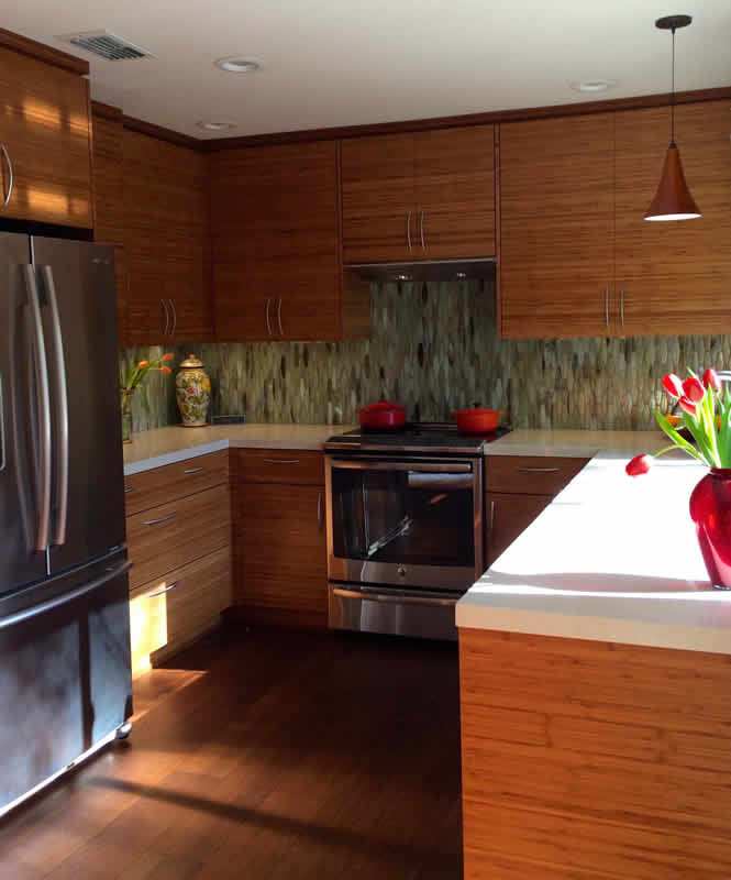Bamboo Kitchen Cabinet Doors And Drawers Feist Cabinets And Woodworks Inc