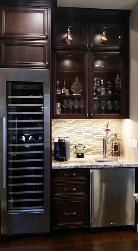 Cherry Bar Cabinets