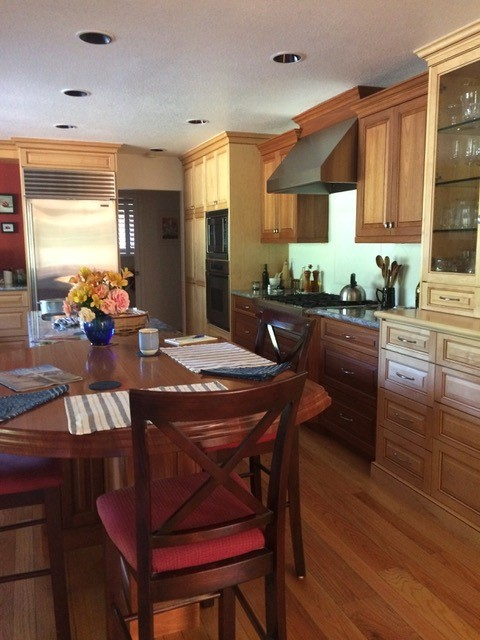 Maple and Lyptus Natural Kitchen Cabinets