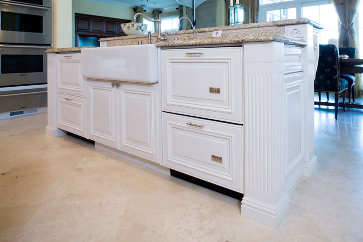 Painted kitchen island cabinets