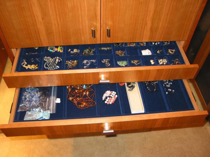 Jewelry drawers