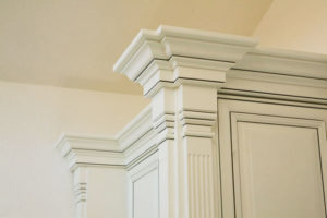 Custom glazed crown molding