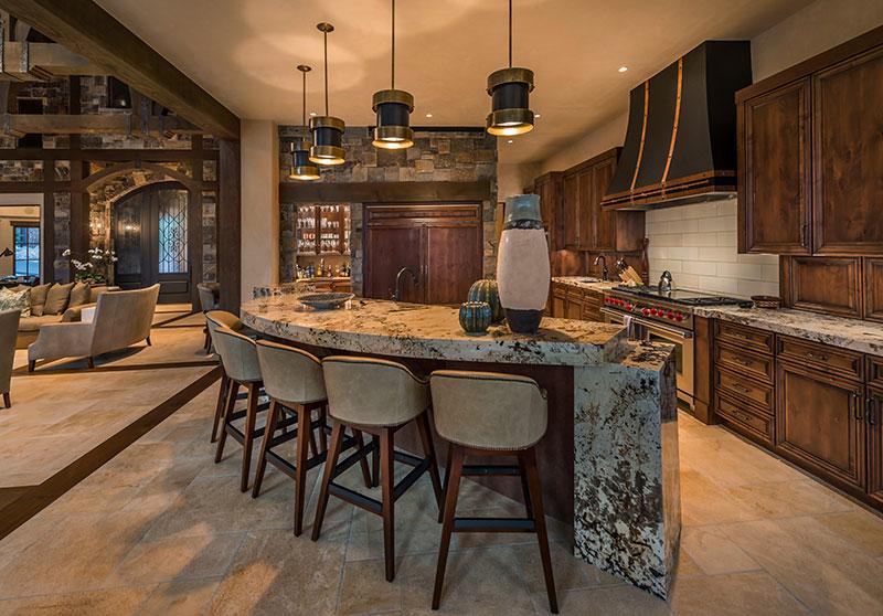 Rustic Alder Kitchen Cabinets